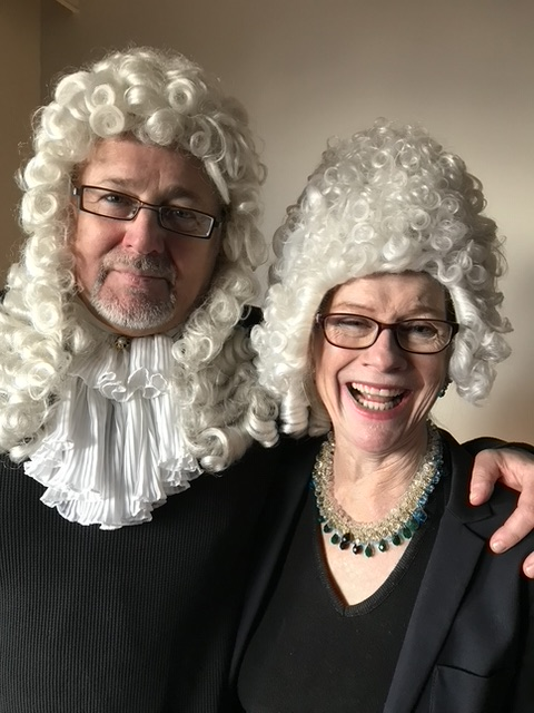 Bill and Holly looking very much like baroque composers